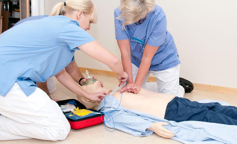 S-HLR hjärtlungräddning.